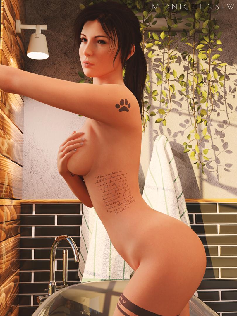 HR without watermark on my Patreon:   Lara Croft model by @wildeerstudio    #nsfw #r34 #rule34 #laracroft #tombraider