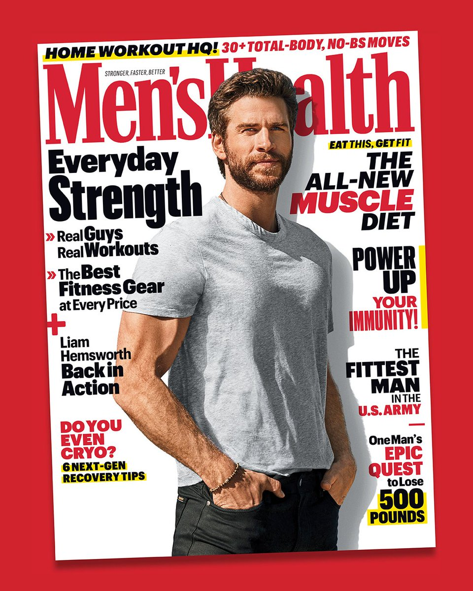Here's the US cover of @menshealthmag. Hope everyone is staying healthy! Cheers again to @rikerbrothers and @scottiehendo