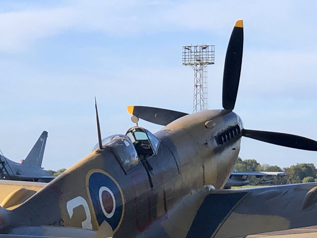 test Twitter Media - The Hurricane and the Spitfire @RAFBBMF and @RAFConingsby getting ready to fly to @captaintommoore's house for a flypast in honour of his 100th birthday. @itvcalendar https://t.co/Gg6VbjkbIn