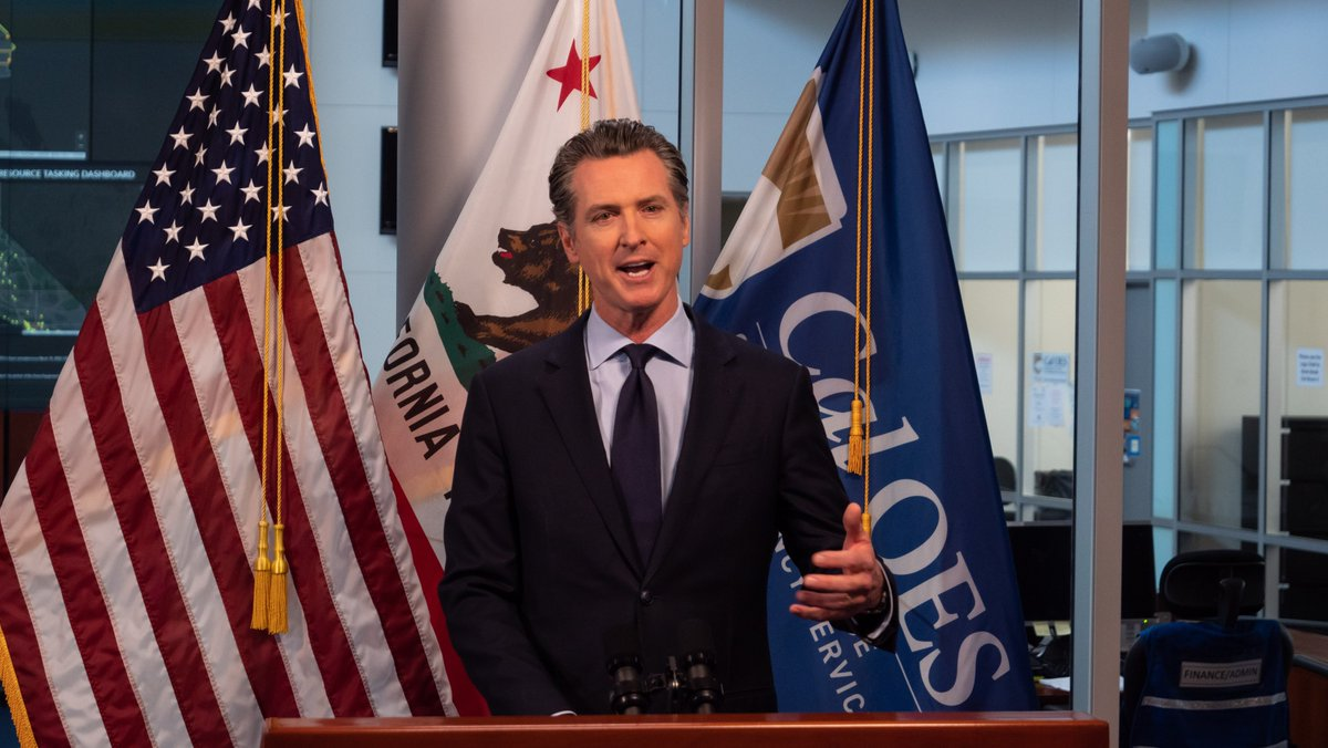 LIVE AT 12:00PM: Governor @GavinNewsom will provide an update on California's response to #COVID19.  📹 Tune in  YouTube:  Facebook:  Twitter: @CAgovernor