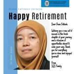 Congratulations on your #retirement Puan Fatinah Zainon! We wish you tons of happiness in the years ahead 🥳 https://t.co/02RAoOrCQf