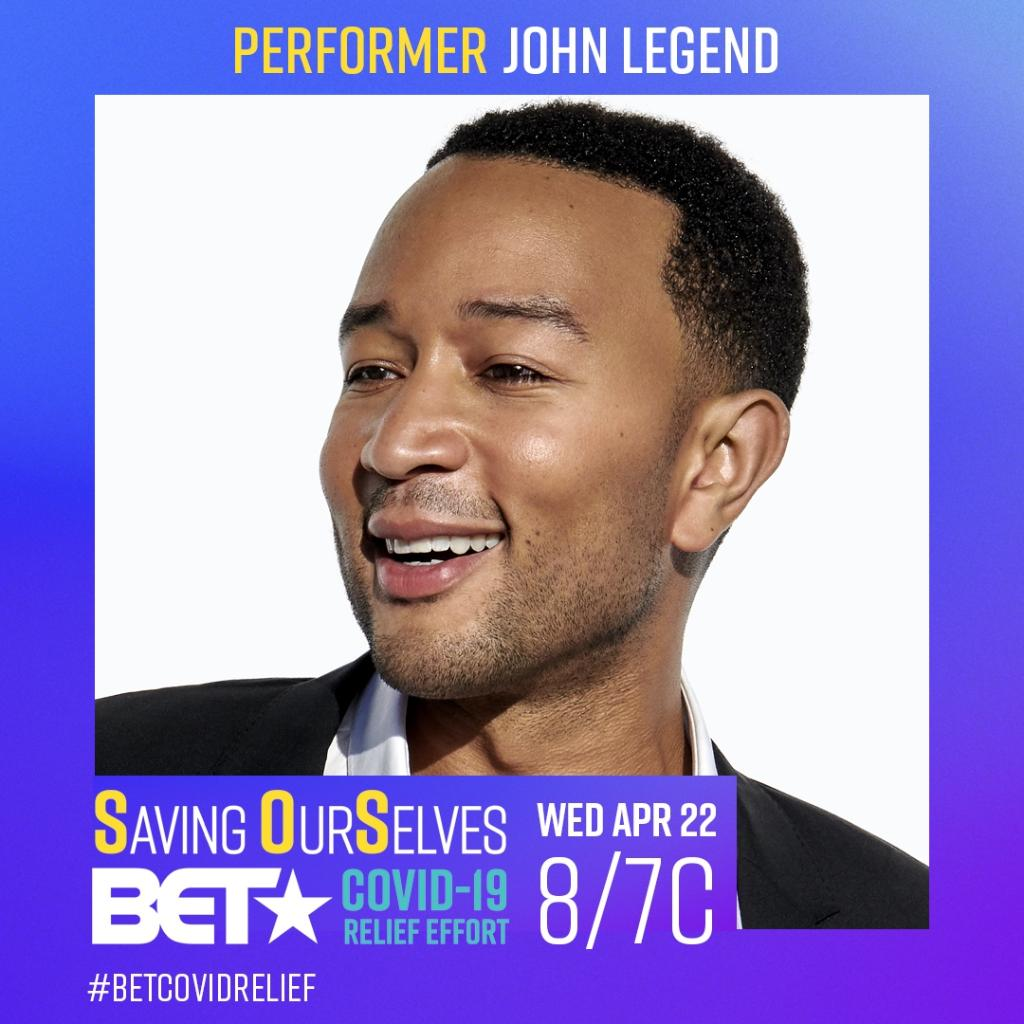 Saving OurSelves: A #BETCovidRelief Effort will be a night of hope! @johnlegend will be performing this WED 8/7c! https://t.co/bkufedM0nQ