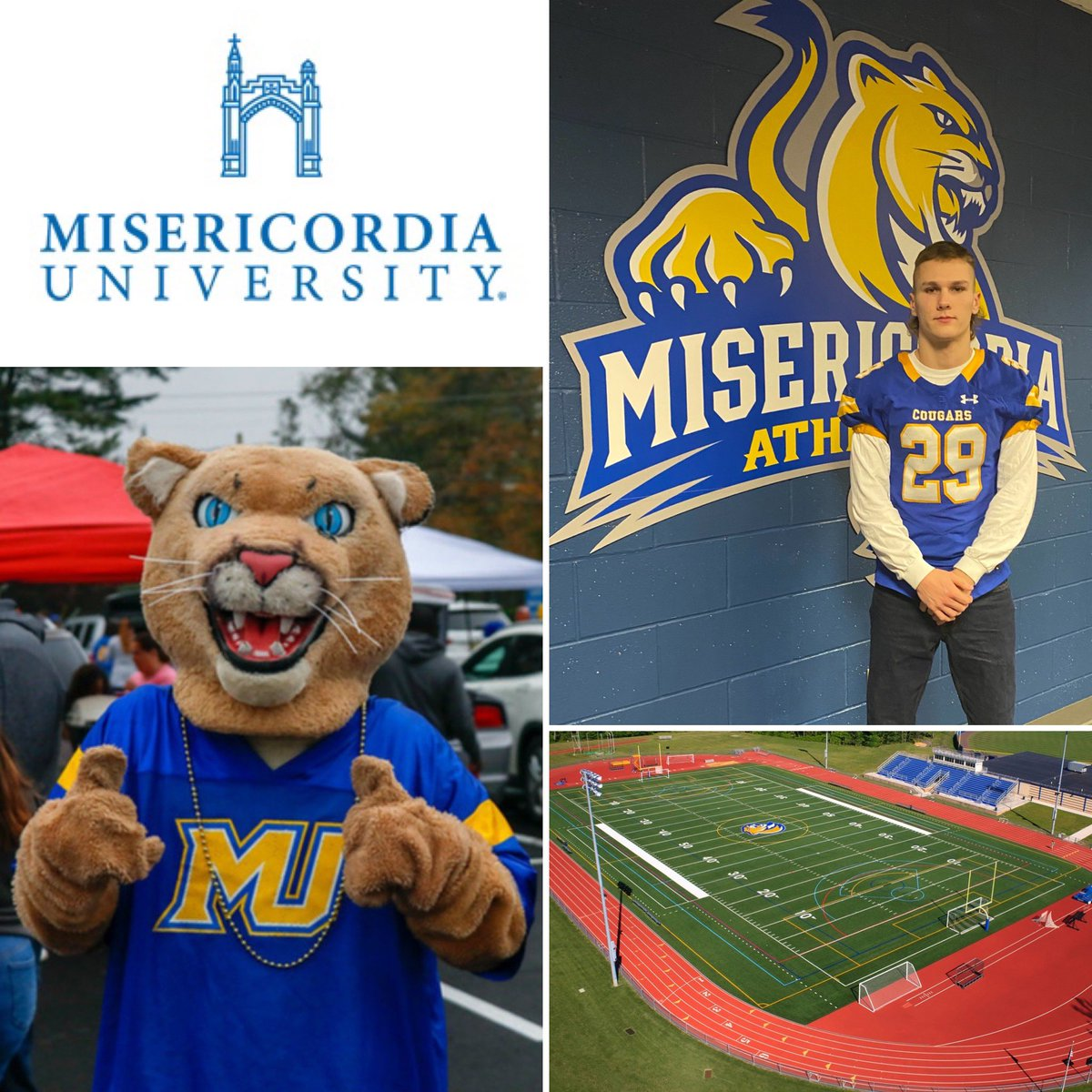 I'm very excited for the opportunity to continue my academic, football, & track careers at Misericordia University. Thanks to everyone who helped me become the young man I am today.🙏🏻 #MU2024 @MUCougars