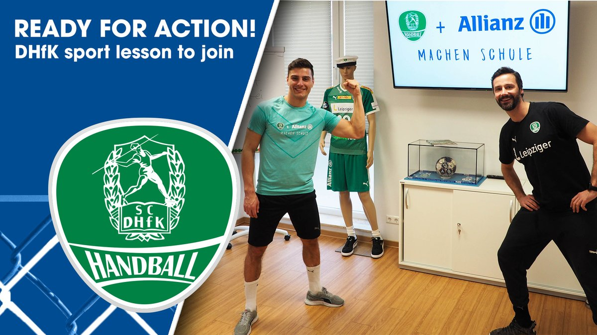 "In response to a rapid spread of our German videos and high demand of our international fans, we are pleased to present our project ""Ready for action! – The DHfK sports lesson to join""  in an English version now. We hope you enjoy joining it! ➡ https://t.co/8UUuM2hpUF https://t.co/ZtZBYkjfnq"