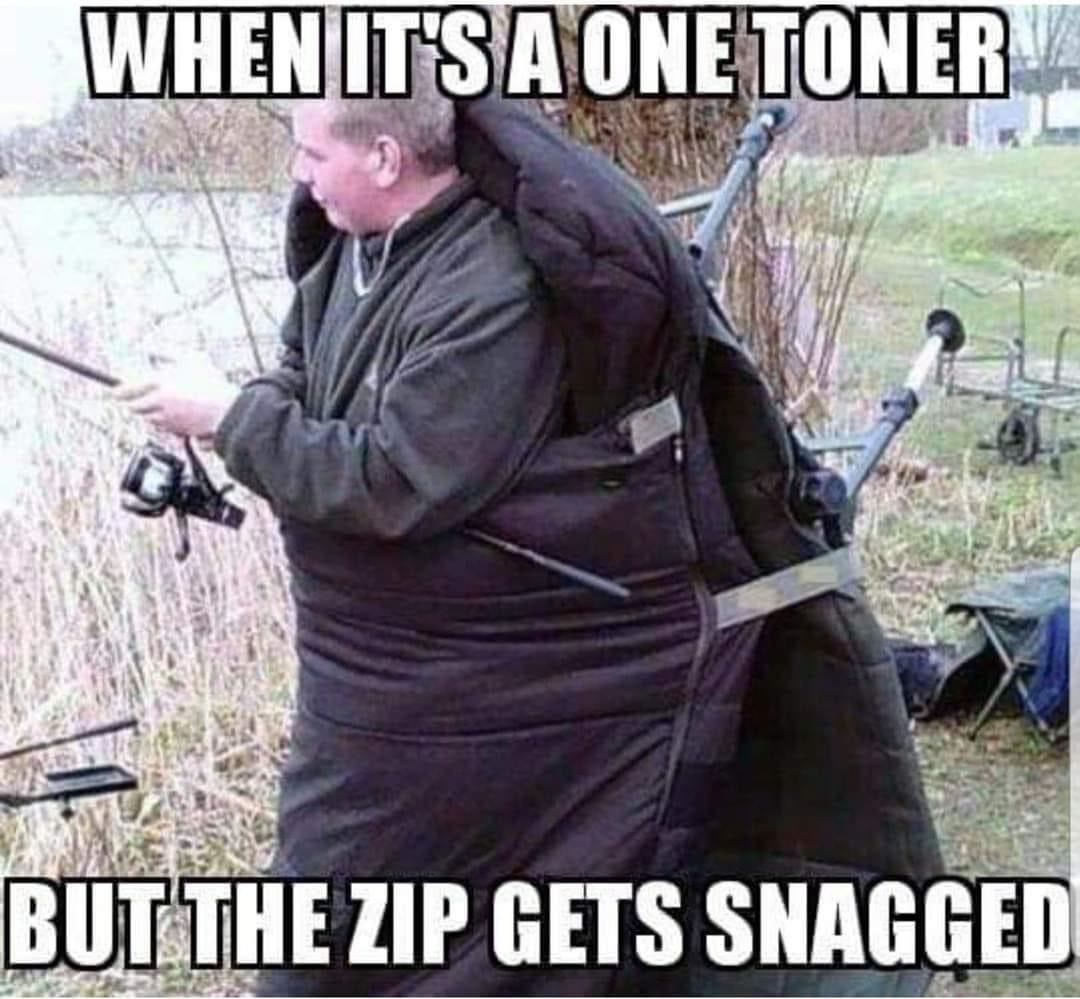 When itu<b>2019</b>s a one toner, but the zip gets snagged!! ud83eudd23ud83dude02  @TheCARPbible   #