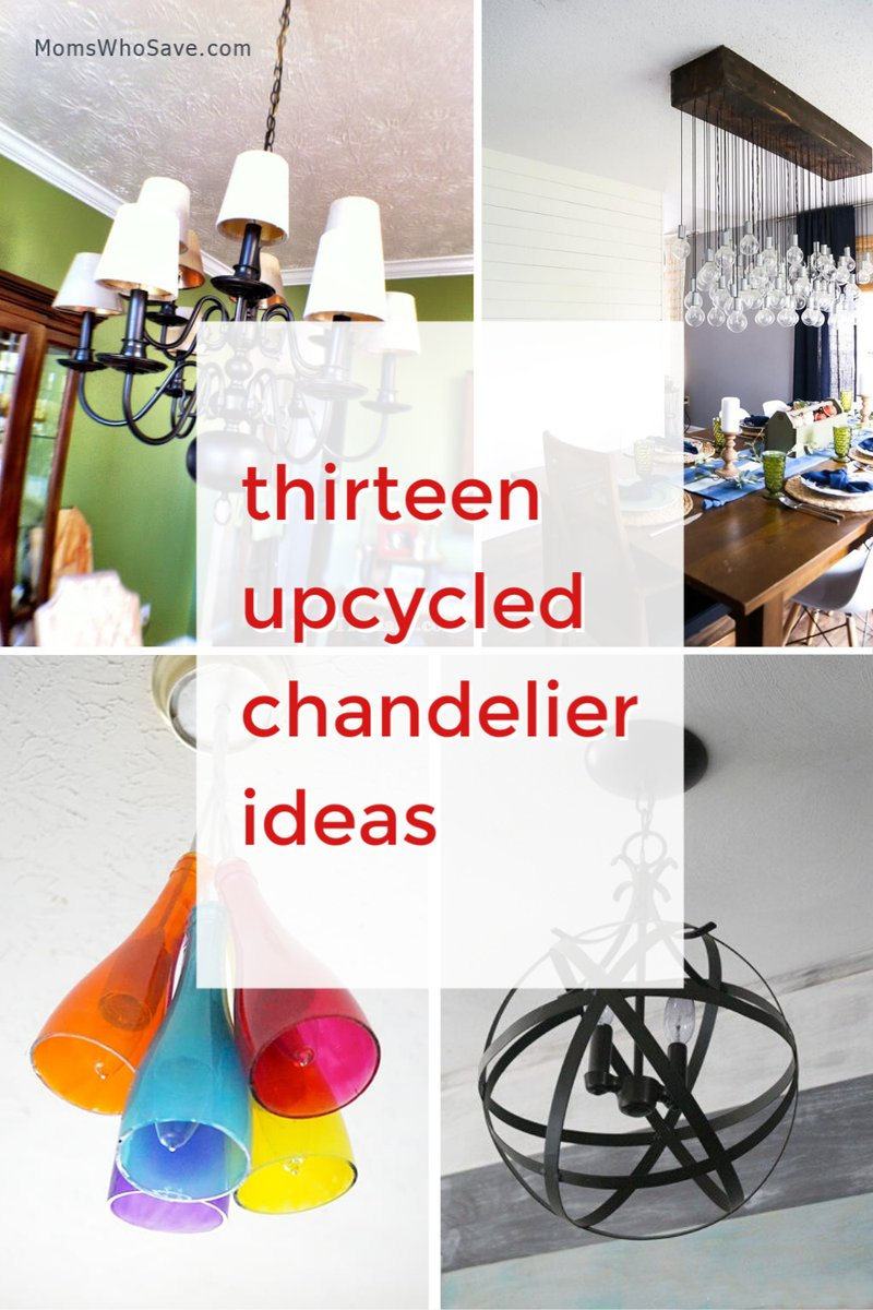 RT @MomsWhoSave: 13 Upcycled and DIY Chandelier Ideas    #home #lighting #DIY #upcycle #decor