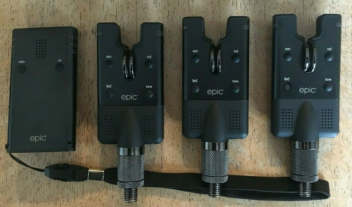 Ad - Wychwood Epic Bite Alarms x3 + Receiver  On eBay here -->> https://t.co/oN7bAAfhgk  #carp