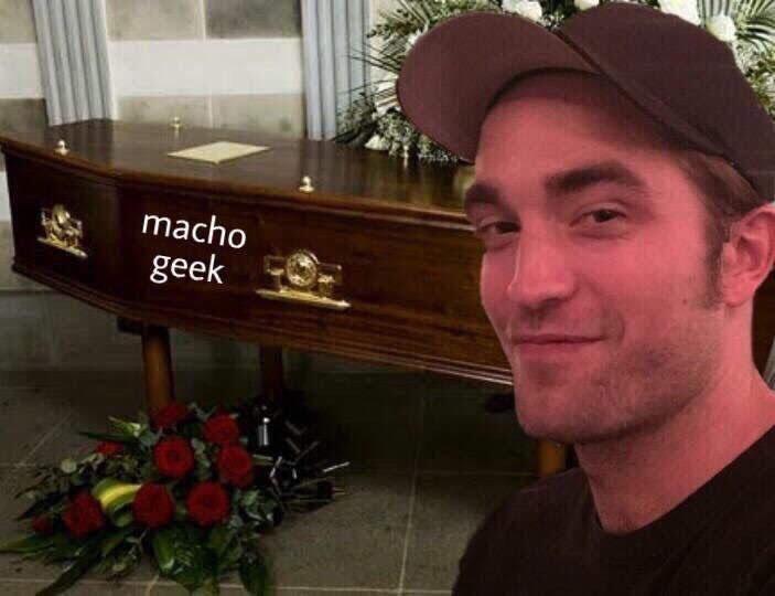 os nerds irritados pq o Robert continua magro e sem uma caralhada de músculo para interpretar o batman  e mesmo sem fazer nada o Robert Pattinson continua me dando alegria por irritar os machos geek