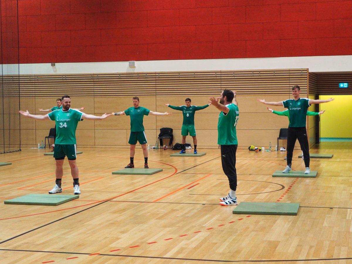 Die Handballer des SC DHfK Leipzig sind zurück im Mannschaftstraining! https://t.co/jSG1OJOikK https://t.co/qtoCG6V7zB
