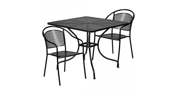 RT @CountryVintage_: Light Grey Steel Metal 3-Piece Outdoor Patio Furniture...