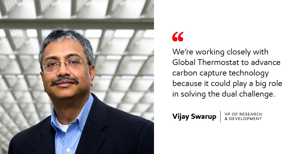 Our own Vijay Swarup spoke on the #Earthx2020 virtual panel about our partnership with @GlobalThermo