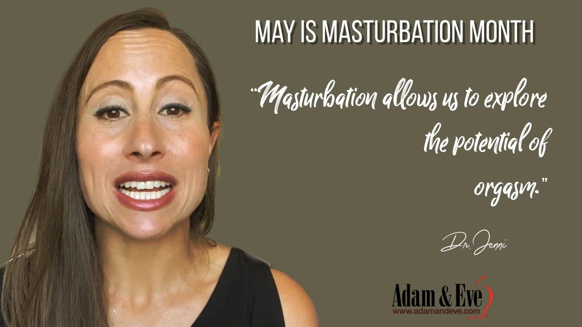 May is Masturbation Month! #stressrelief #therealadamandeve #DrJenni