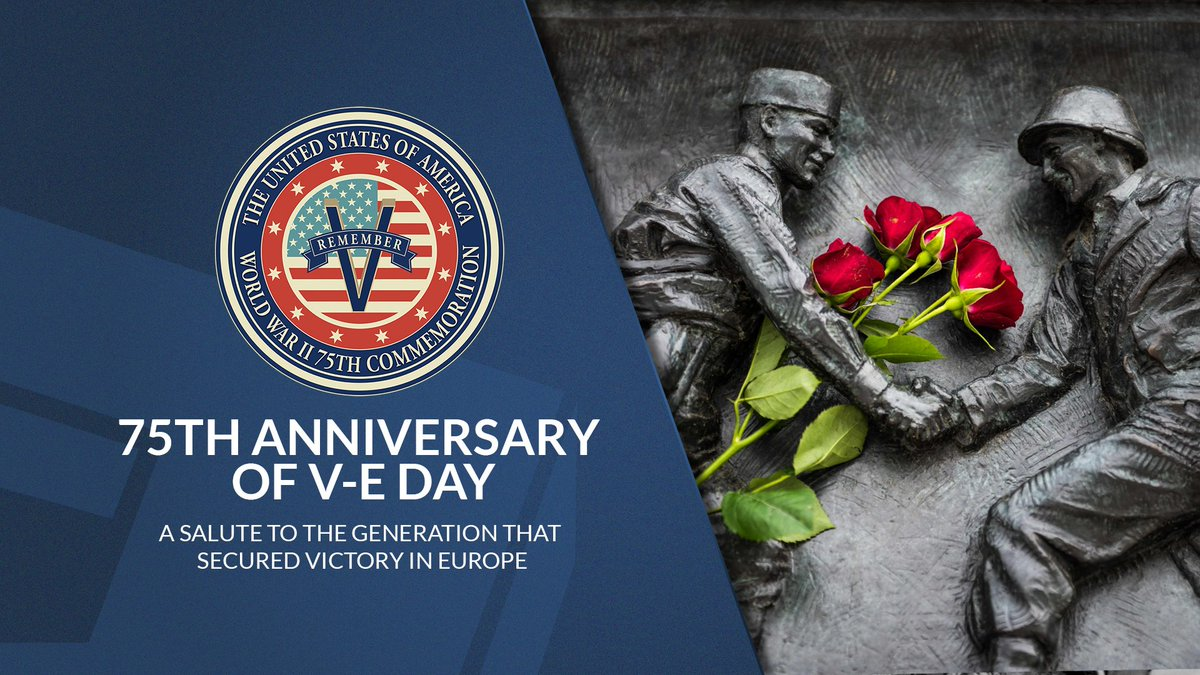 Today, we honor the #WWII heroes whose sacrifices led to Victory in Europe Day in 1945. The day marked the formal acceptance of Nazi Germany's surrender. #VEDay75 #HonorThem