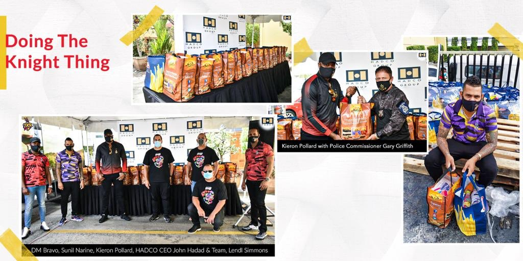 .@tkriders collaborated with HADCO Ltd. to 'Do the Knight thing' & distribute as many as 1k food hampers to the needy who are struggling because of the lockdown in Trinidad & Tobago. Proud of u my boys!