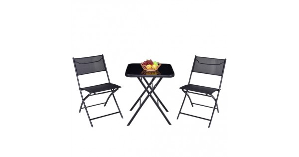 RT @CountryVintage_: Outdoor 3-Piece Folding Bistro Patio Set with Table and...