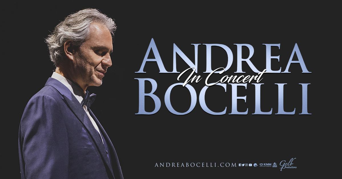 Andrea Bocelli will return to Pittsburgh on December 5th 2020 and tickets are on sale now! Don't miss this unforgettable one night only event -->