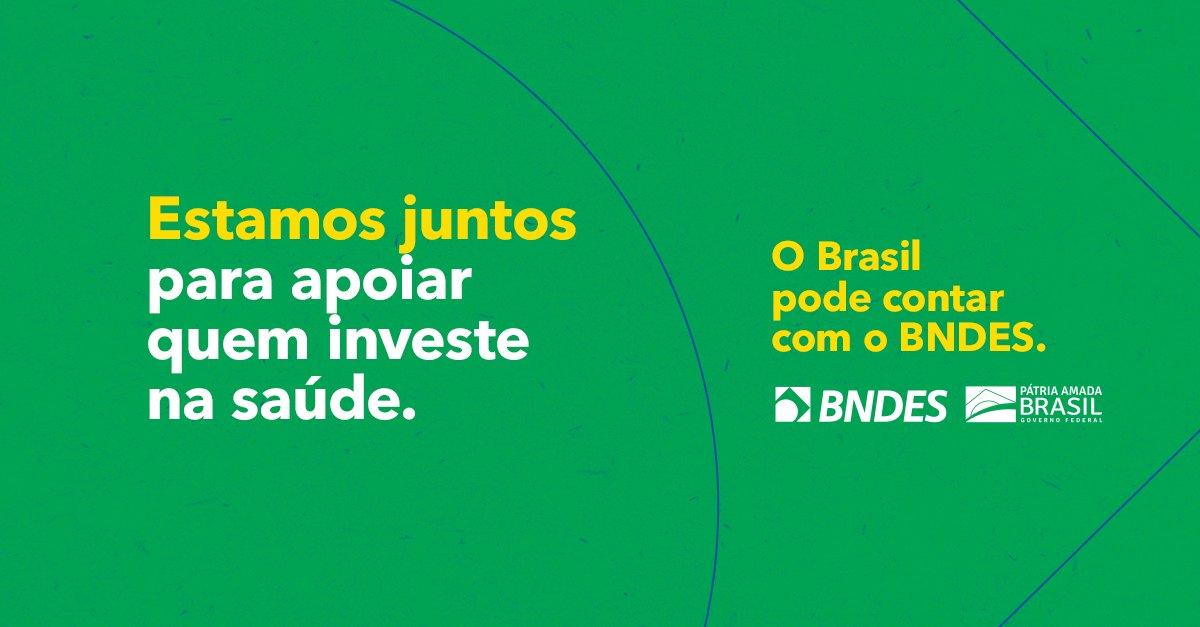 O BNDES está destinando R$ 2 bilhões em crédito a empresas que produzem equipamentos médicos e de proteção. Assim, ampliará a oferta de leitos de UTI, respiradores pulmonares, monitores e máscaras cirúrgicas no país. Vamos enfrentar essa crise juntos: