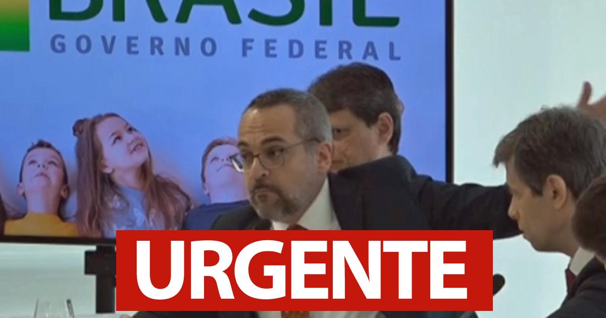 #URGENTE - Moraes determina que Weintraub seja ouvido pela PF para explicar fala em reunião ministerial. Leia no blog de Andréia Sadi ==>