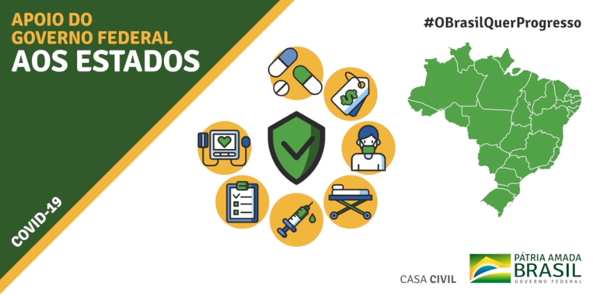 Sim, o Governo @JairBolsonaro está fazendo TUDO AO SEU ALCANCE para ajudar os Estados e Municípios no combate ao Coronavírus.  Assistam ao vídeo preparado pela @casacivilbr: