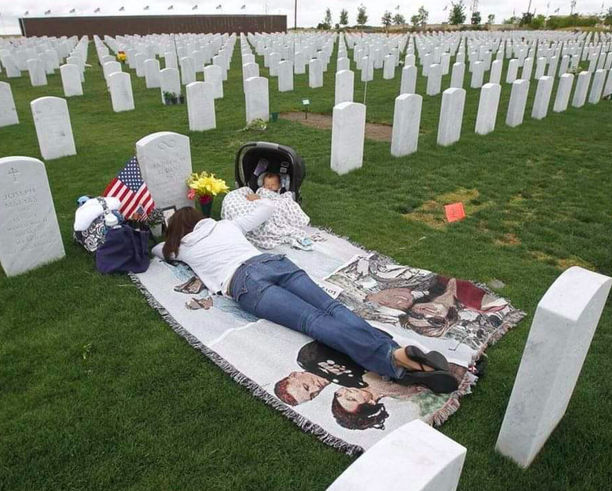 A wife without a husband, a child without a father.   He gave it all, for them and for you and me. Please take the time today—and every day—to remember those who paid for our freedom.