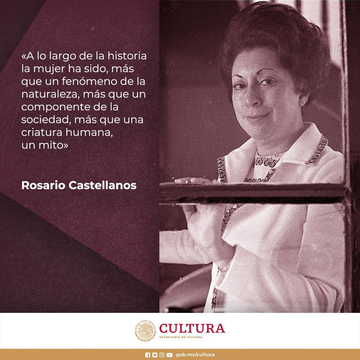 Hoy celebramos a Rosario Castellanos, poeta mayor de México, figura central para entender la literatura mexicana del siglo XX, voz imprescindible para visibilizar a las mujeres en el campo cultural. A 95 años de su nacimiento, su obra ha ganado vigencia en las nuevas generaciones