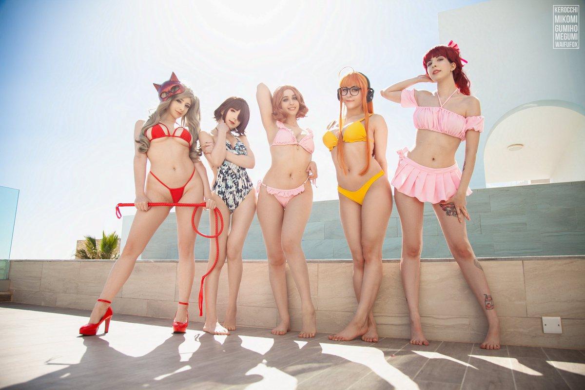 THE #persona5 pool party of the year with your favorite waifus!  ♥   Haru @gumiho_arts  Ann @MikomiHokina (me ^^) Makoto @megumi_koneko Kasumi @kerocchicos Futaba @waifufox