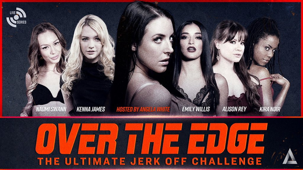 Go the distance on May 29th with OVER THE EDGE, a special #AdultTime live event hosted by @ANGELAWHITE!   Join us for the Ultimate Jerk Off Challenge with @kennajames21, @AlisonReyxxx, @thekiranoir, @emilywillisxoxo and @Naomi_Swann in a series of games, dares and challenges!