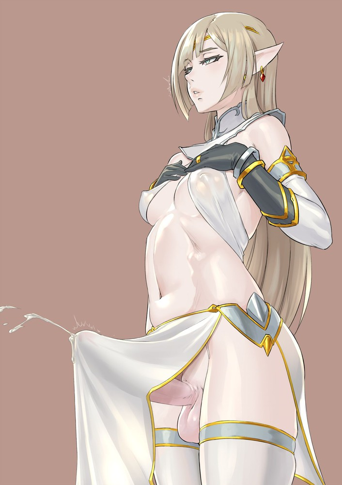 Making some nutricious elven potion.  Look at the size of that beauti! 😍  Art by Mikoyan #futa #futanari #dickgirl