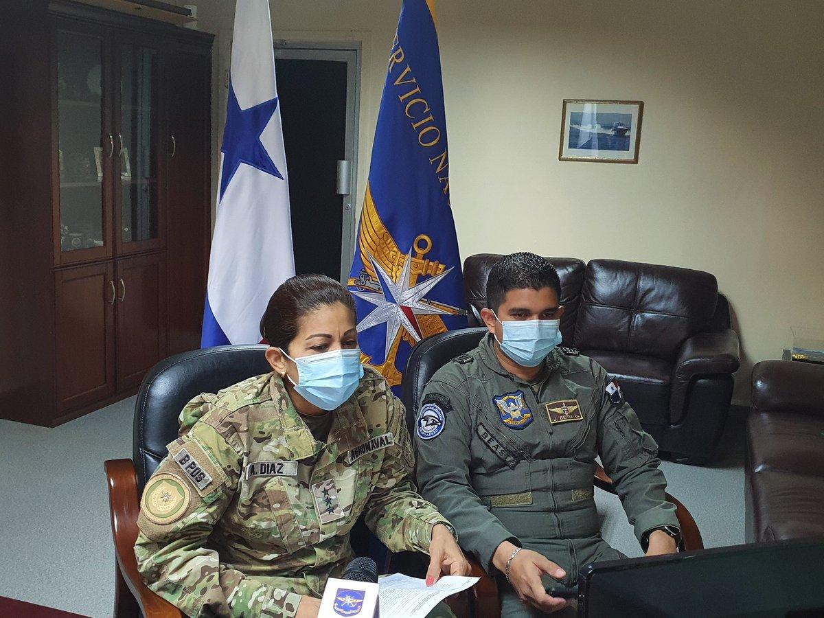 En estos momentos la Com. Albalira Diaz, Secretaria General y el Cap. Jorge Beitia, brindando detalles a @TReporta del vuelo humanitario de los 3 ciudadanos que se encontraban en Nicaragua afectados por el #COVIDー19 @MinSegPma
