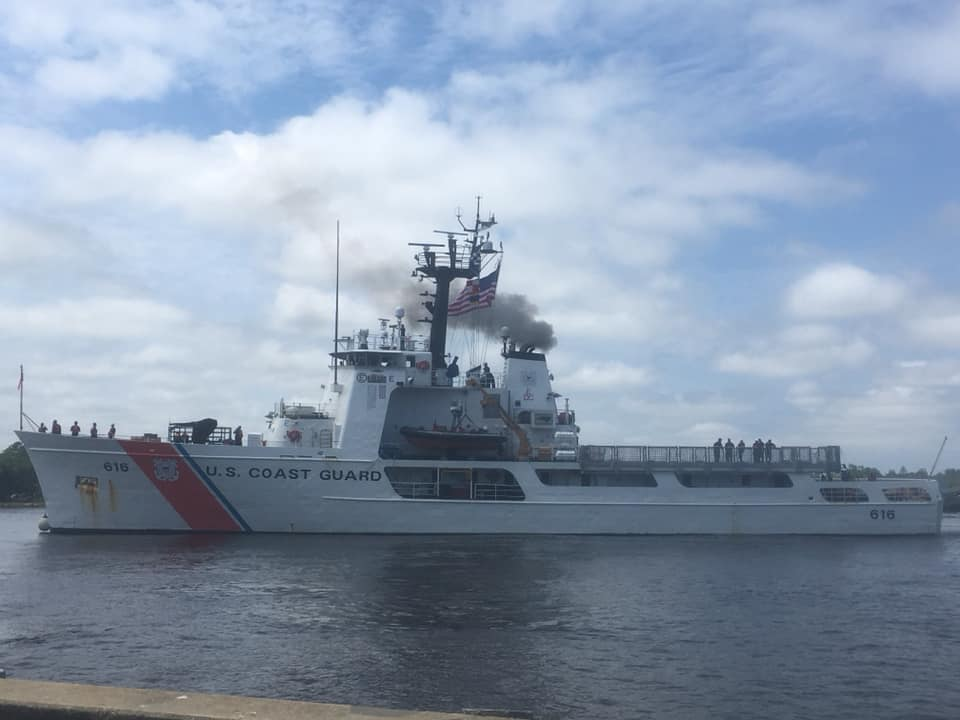 """USCG Diligence coming to Pensacola!  4th Cutter assigned to NASP.  Just left Wilmington yesterday on patrol.  No arrival date yet.  Diligence was once featured in the film, """"Around the World, Under the Sea,"""" with Lloyd Bridges in 1966. Welcome to your new home, Diligence!"""