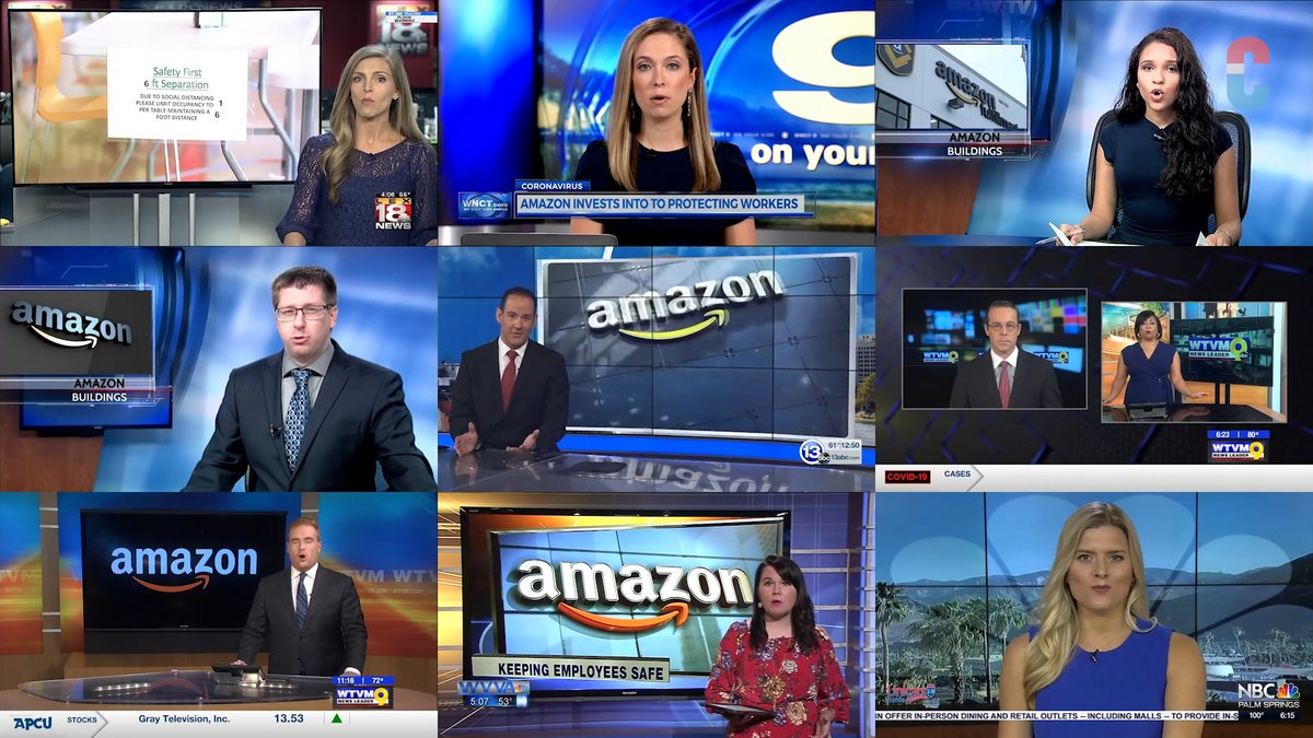 NEW: Here's 11 local news stations just straight up running an Amazon scripted segment ahead of their shareholders meeting