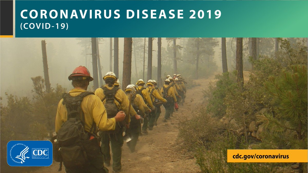 When wildland #firefighters are traveling between assignments or during fire responses via large transport vehicles it is often not practical to implement social distancing measures. @CDCgov has actions that can be taken to prevent the spread of #COVID19