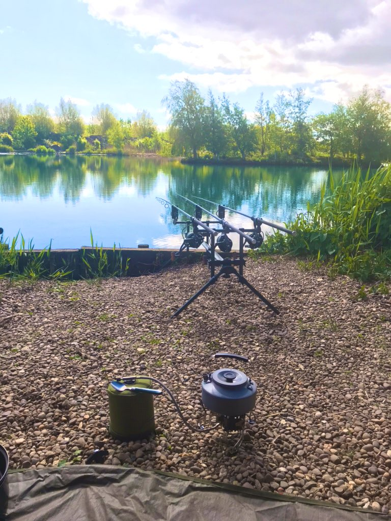 The <b>Perfect</b> morning, let's hope the carp play ball, time for a brew!  #carpfishing #SelfIso