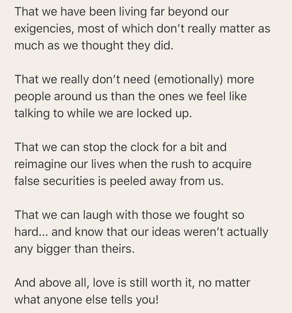 Lockdown lessons...