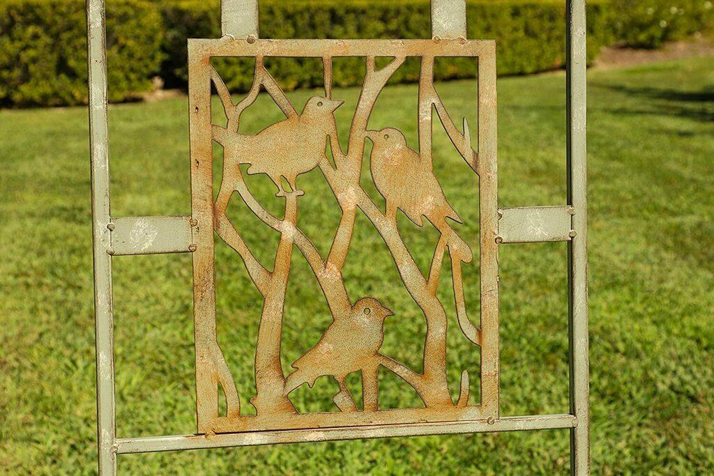 Alpine Metal 3-Piece Birds on Branches Bistro Set, 29 Inch Tall...