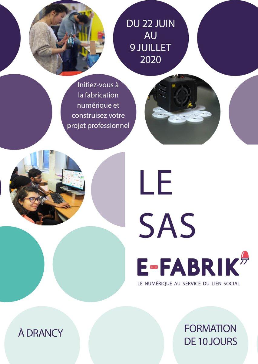 test Twitter Media - E-FABRIK' propose un nouveau format de 3 semaines, pour découvrir la fabrication numérique et construire son projet professionnel. Ça s'appelle le SAS E-FABRIK'. Et les candidatures ouvrent....maintenant ! Pour candidater, c'est ici : https://t.co/gfBRBpUylj https://t.co/r6Ov0SE9mD
