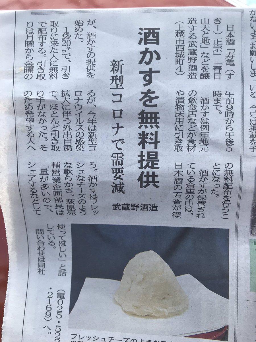 test ツイッターメディア - 上越の武蔵野酒造さんから、友人が酒粕をいただきました。 私もお裾分けでもらいました。 20キロ! いっぱい💖 金曜まで無料で貰えるそうです✨ #武蔵野酒造 #酒粕 https://t.co/6AIiqPXYuj
