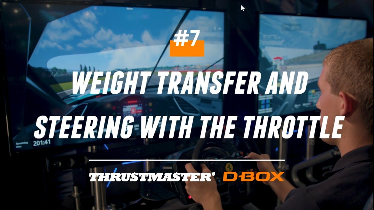 test Twitter Media - At high speeds, the weight of a vehicle can shift rapidly and dramatically. In this week's video, see how managing the weight transfer of your vehicle can translate into faster lap times.   For the full video ➡️https://t.co/jCSzDG4qSf #Thrustmaster #DBOX #SimRacing #DBOXMotion https://t.co/6fOc4y4rjL