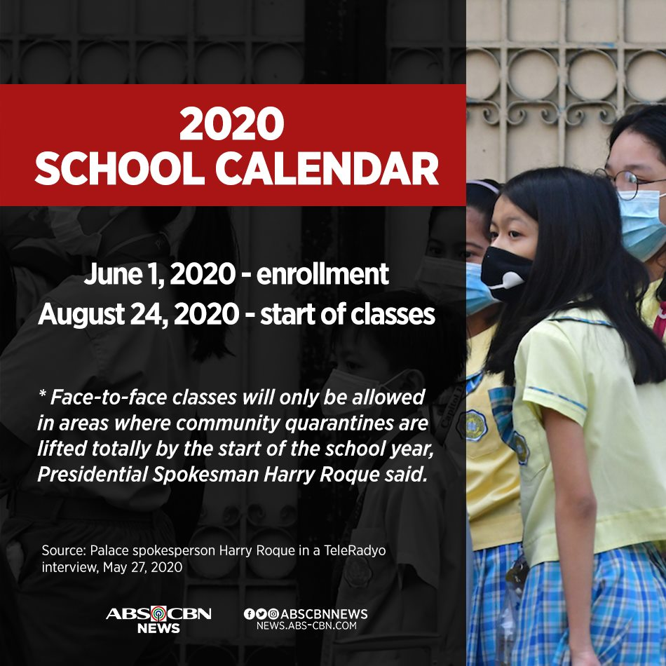 2 days after President Duterte rejected face-to-face classes without a vaccine against #COVID19, the Palace announced that the August 24 opening of classes will push through.   READ: