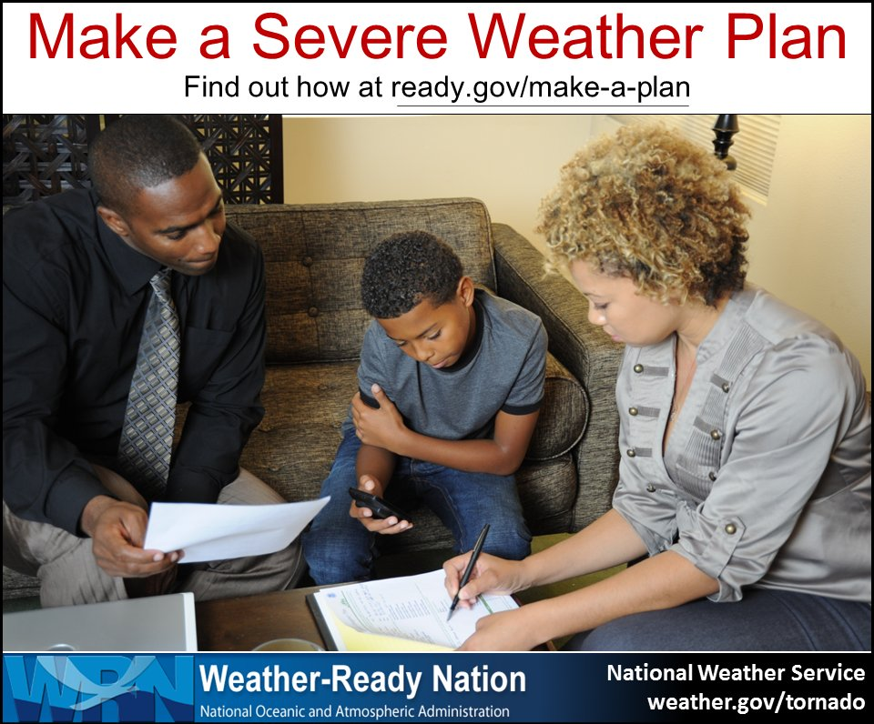 This Weather-Ready Wednesday, make a severe weather plan!  #SummerSafety (photo @fema) #WRW
