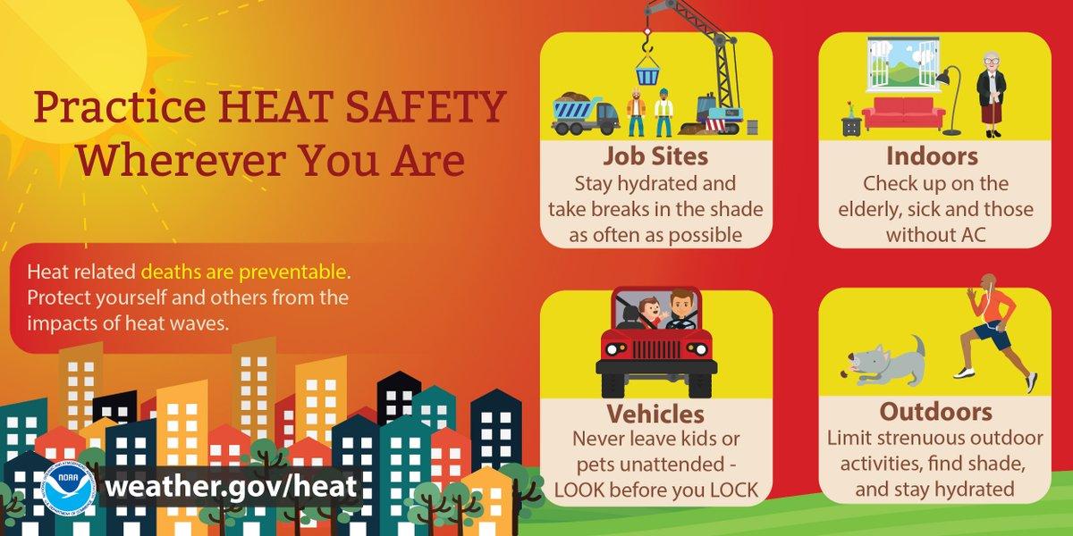 This Weather-Ready Wednesday, practice Heat Safety! #KeepYourCool  #HeatSafety #WRW