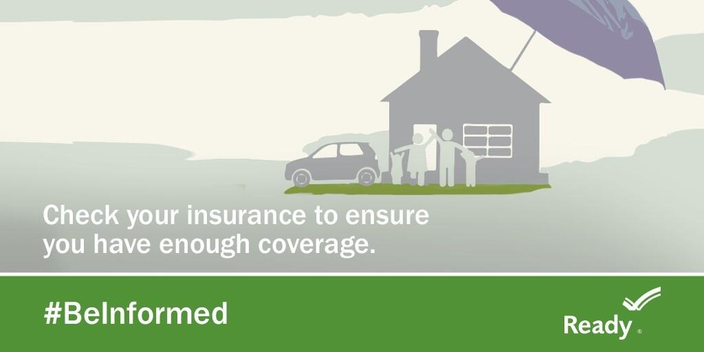 Check your insurance to ensure you have enough coverage. #BeInformed