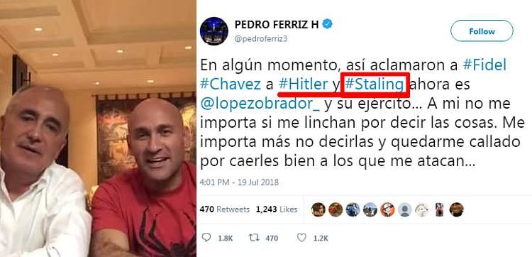 Buen día, ¿Alguien sabe si Vicente Fox ya comió? ¿Sí Carlos Mota ya leyó Yucatan News? ¿Si ya dieron el Golpe de Estado a tuitazos? ¿Si @pedroferriz3 ya comparó a López con #Staling?