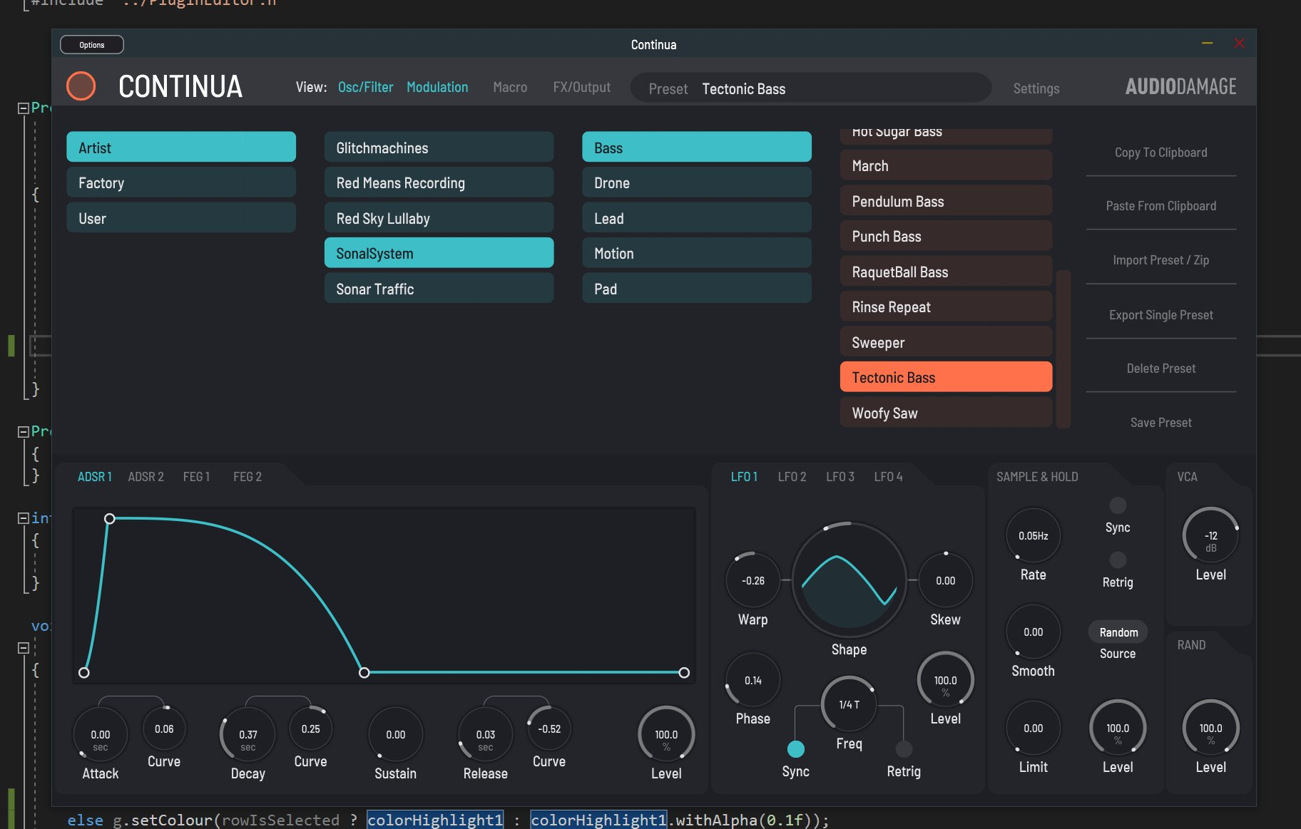 Adding the new preset manager to Continua today. So much better. https://t.co/pfGg0LJOVS