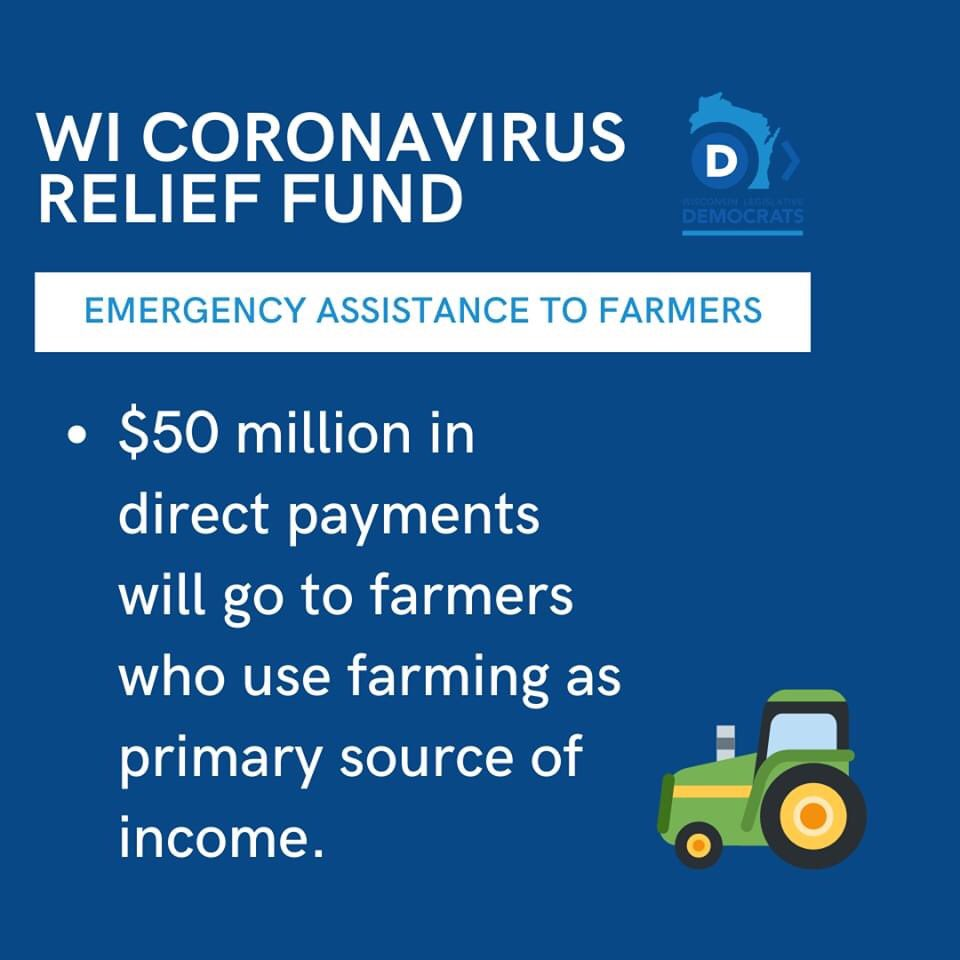 The hits keep coming! @GovEvers has announced two more new programs - one to support Wisconsin's farmers, and one for individuals dealing with food insecurity. These new programs will help keep Wisconsinites fed and will support the farmers who supply our food!