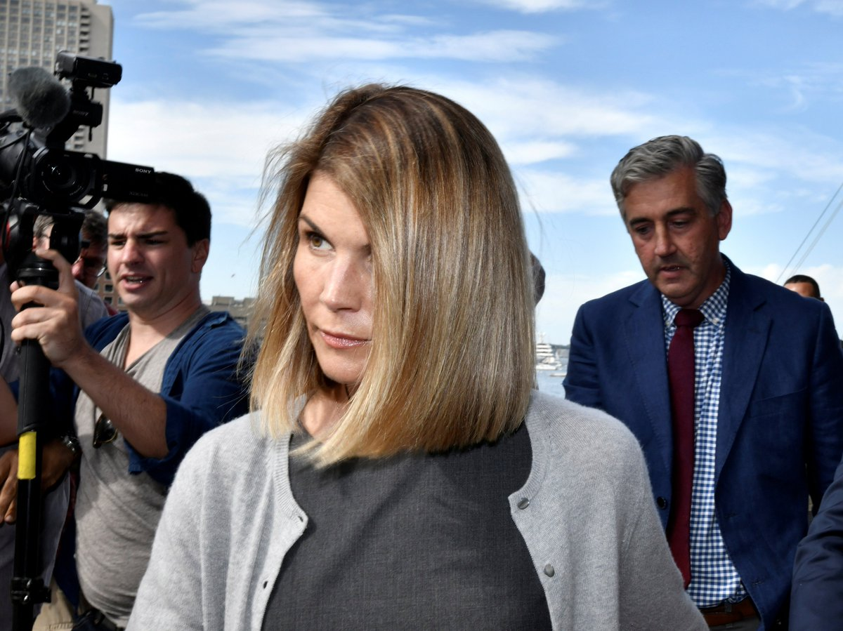 Lori Loughlin and her husband agreed to plead guilty for paying $500,000 to cheat their daughters into college — part of a massive admissions scam involving several wealthy parents.  Their charges carry up to 20 years in prison.  She will serve 2 months.
