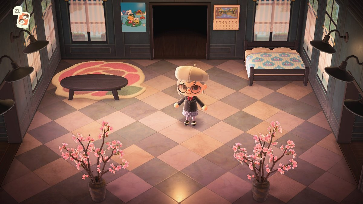 redecorating my pathetic bedroom... i need more furniture #AnimalCrossing...