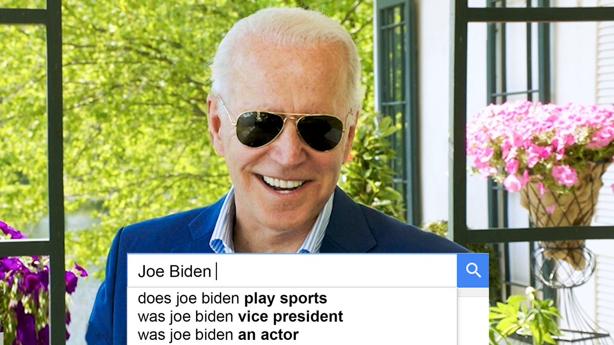 What is @JoeBiden's stance on immigration, education, gun control? We had the Democratic presidential candidate do the WIRED Autocomplete Interview and answer the most searched questions about himself.  Learn and watch more: