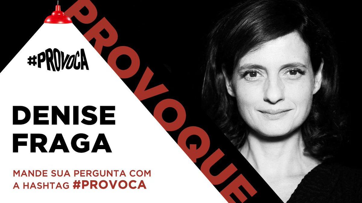 Você pode participar da conversa com a atriz Denise Fraga, a próxima convidada da edição especial desta quarentena do #Provoca Em Casa, com @marcelotas. É só mandar a sua pergunta com a hashtag #Provoca