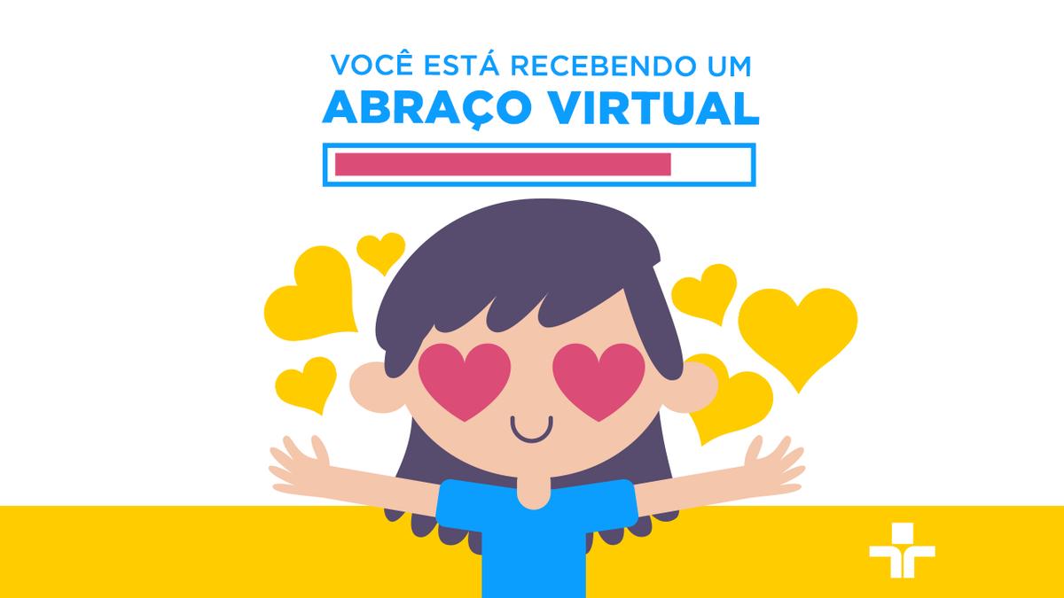 Hoje é comemorado o Dia Nacional do Abraço! Não podemos comemorar esta data como queríamos, mas aqui vai um abraço virtual para você enviar para aquela pessoa que queria muito encontrar nesse momento! Logo poderemos nos abraçar de novo! 💚
